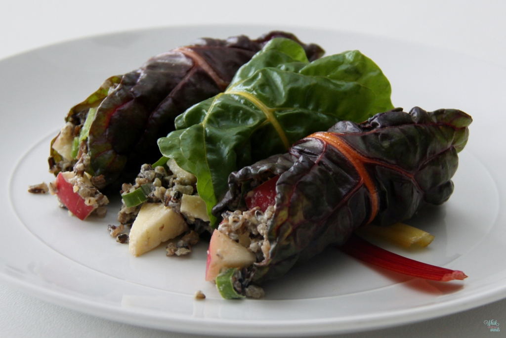 Apple Wild Rice Salad Wraps