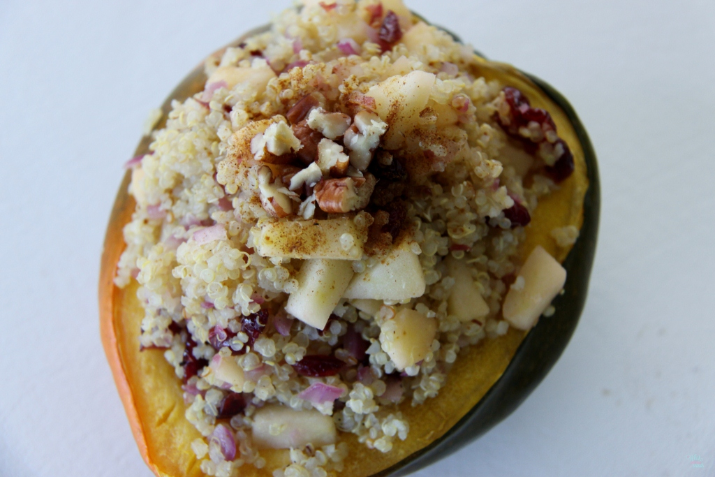 Quinoa Apple Stuffed Acorn Squash