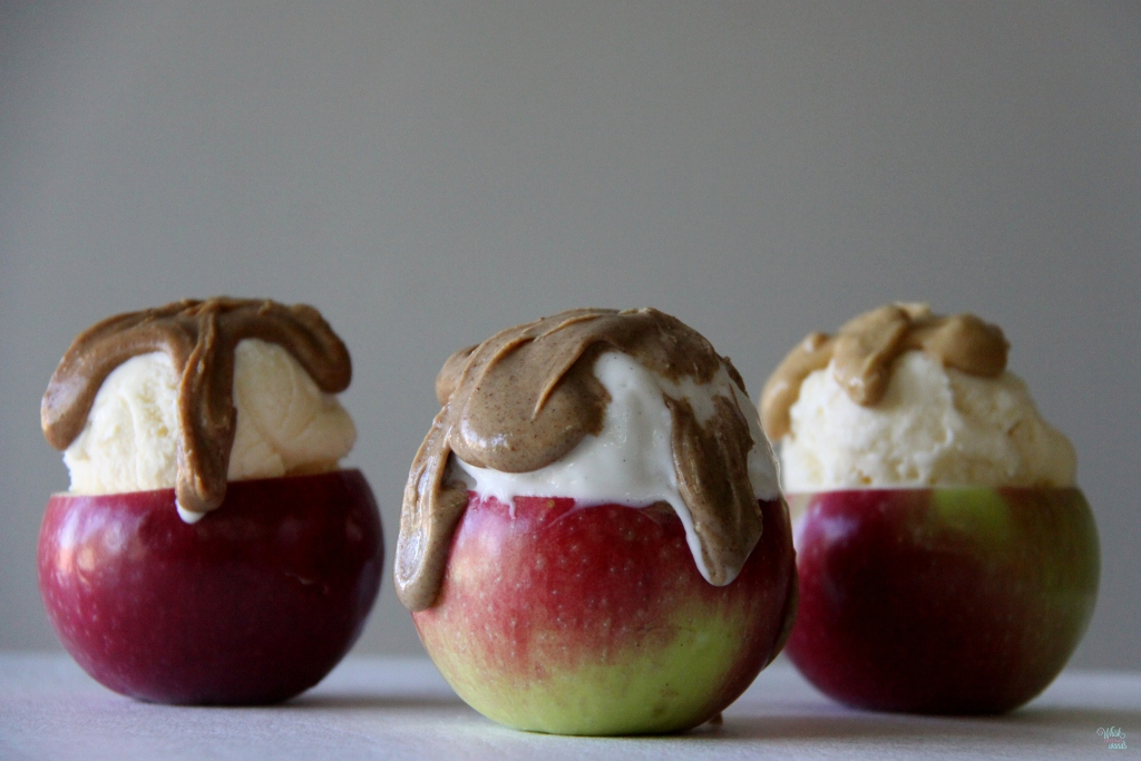 Nut Butter Apple Sundaes