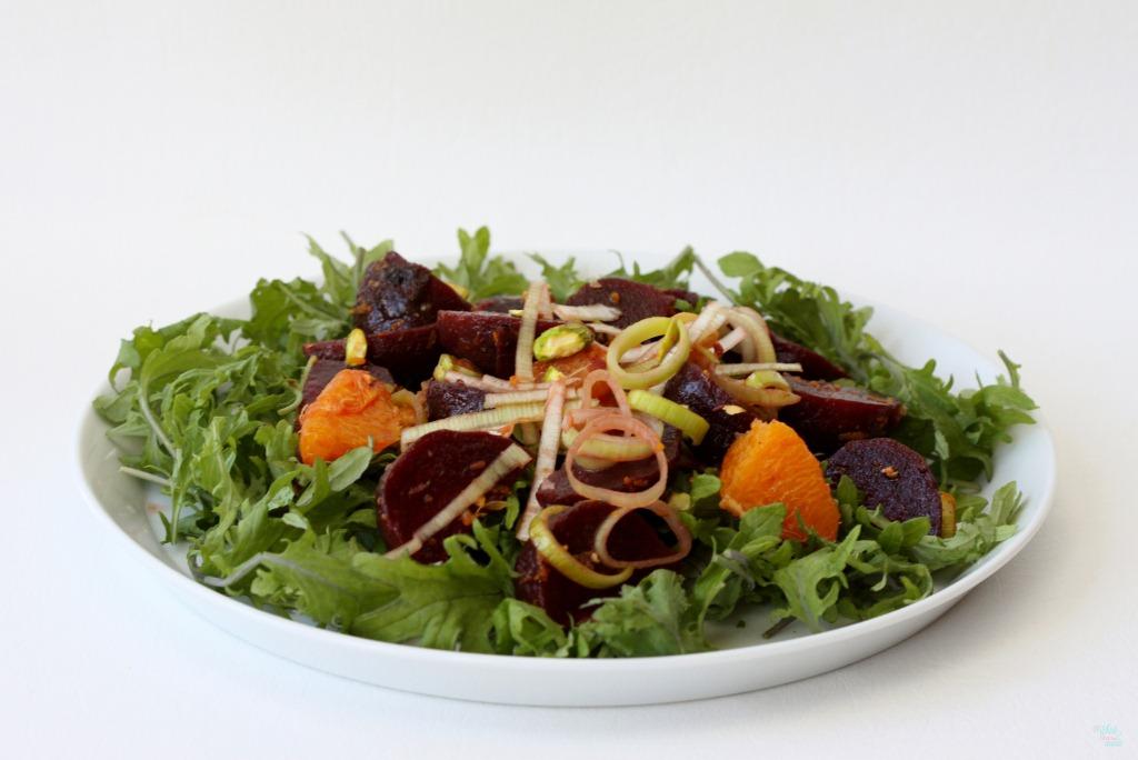 Beet, Orange & Leek Salad