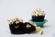 Chocolate Peanut Butter Popcorn Cupcake3 WM Blog