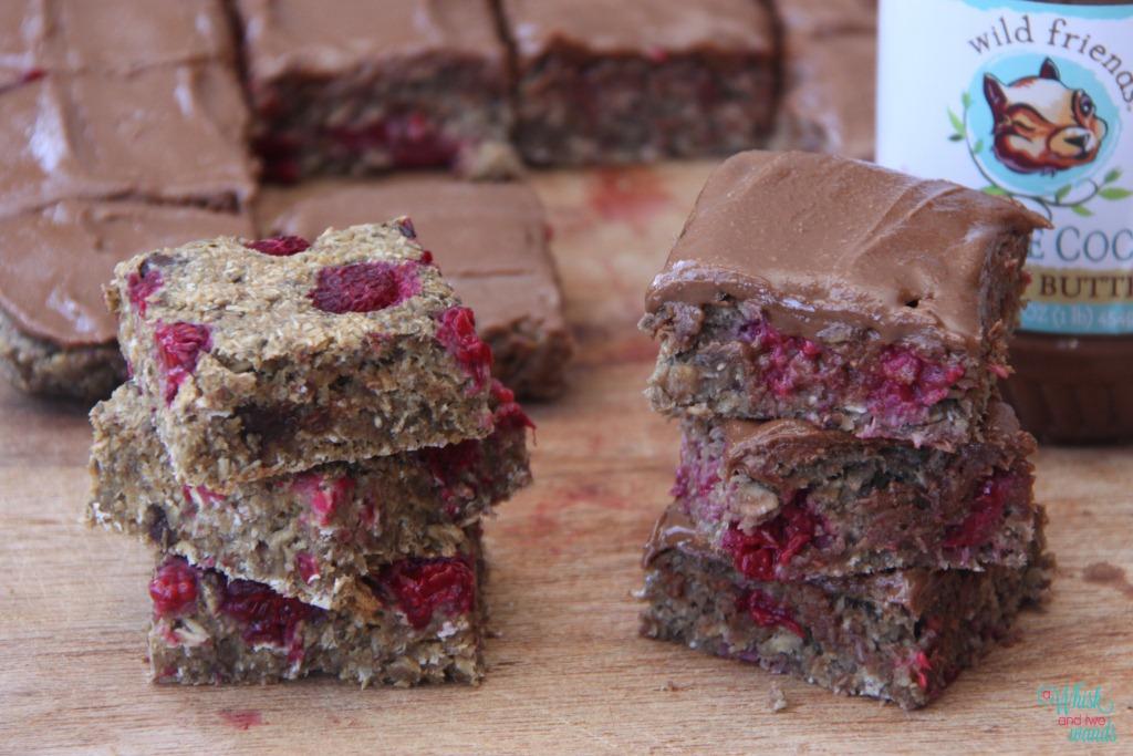 Raspberry Chocolate Oatmeal Bars