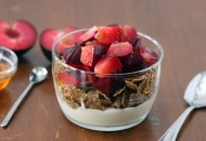 Yogurt and Plum Breakfast Bowl
