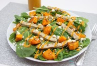 Butternut Squash Pumpkin Spinach Salad