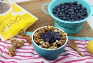 Blueberry Chia Cluster Smoothie Bowl  with Lemon Berry Chia Clusters