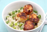 Spicy Scallops and Spring Rice