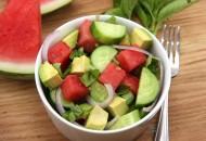 Watermelon Avocado Cucumber Salad