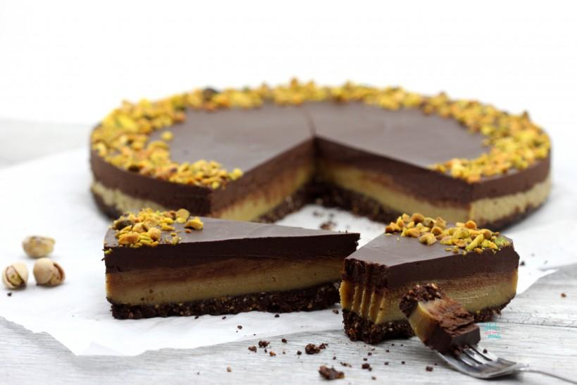 Perfectly Perfect Pistachio Chocolate Tart (no bake, vegan ...