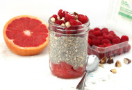 Tropical Berry Chia Overnight Oats