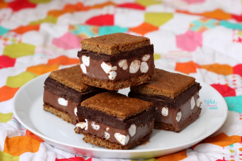 Double Chocolate S'more Ice Cream Bars