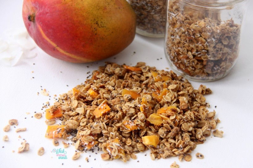 Mighty Mango Granola (with shredded coconut)