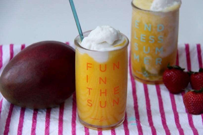 Mango Summer Smoothie Float