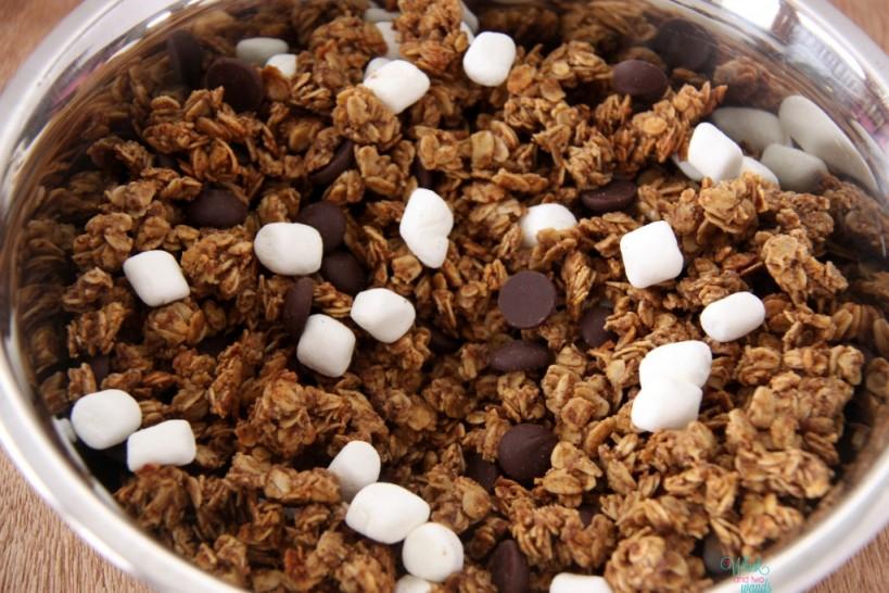 S'more Granola Non roasted marshmallows, no graham cracker pieces