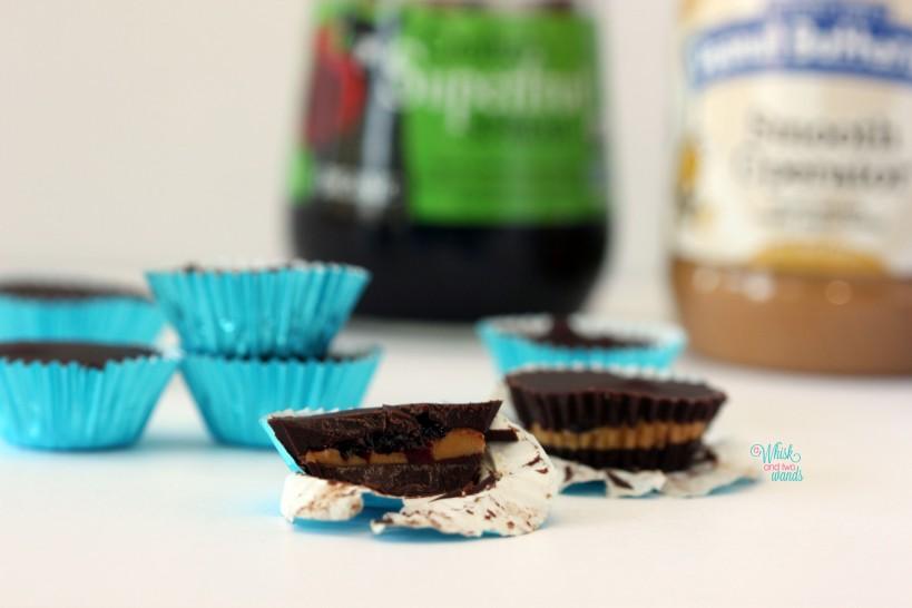 Mini Chocolate PB&J Cups