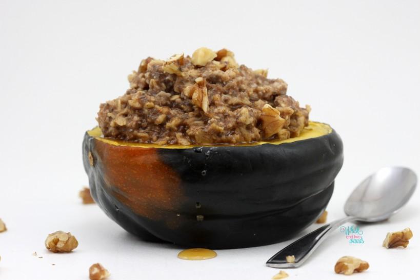 Maple Oatmeal Squash Breakfast Bowl