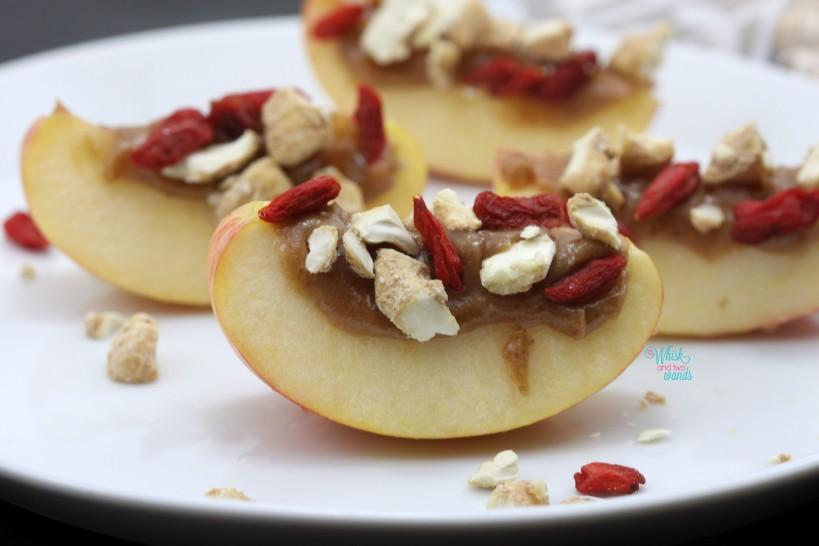 Superfood Caramel Apple Bites