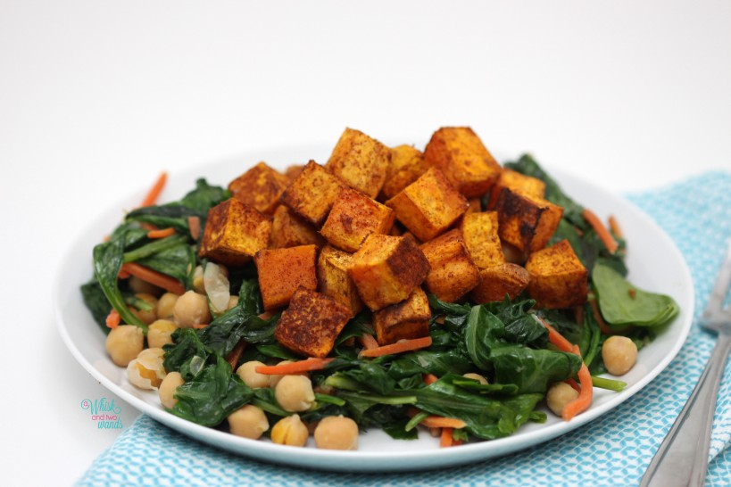 Sweet and Spicy Sweet Potatoes with Beans and Greens