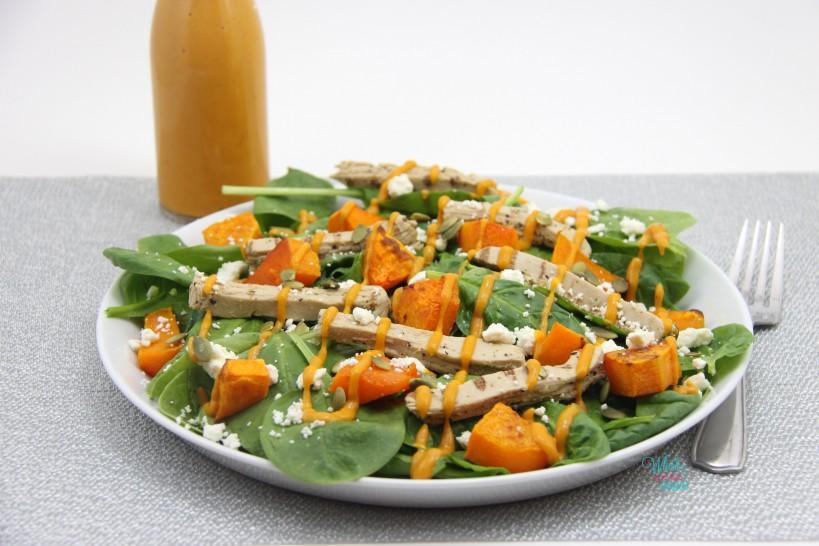 Butternut Squash Pumpkin Spinach Salad