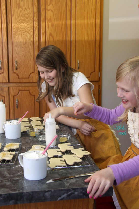 Having fun making cookies!