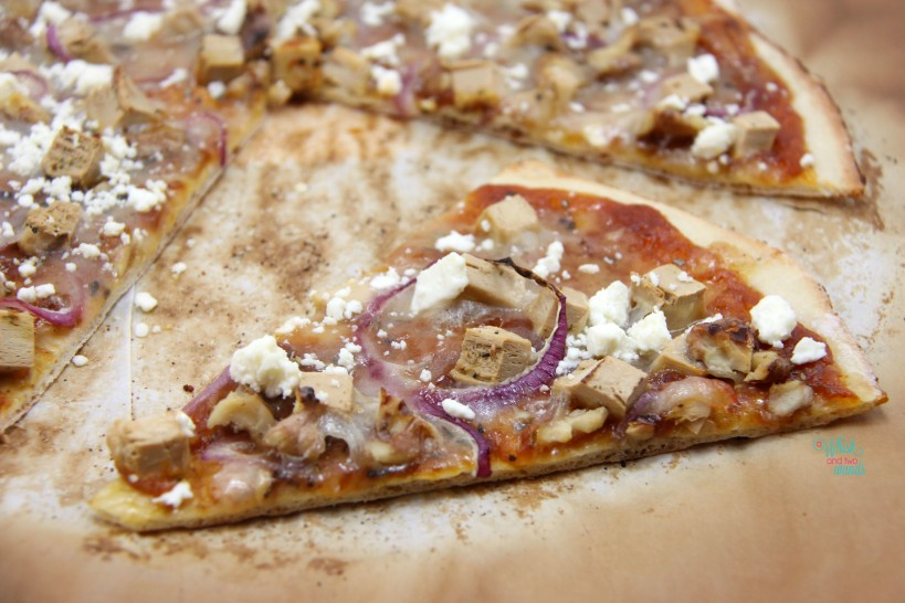 Pumpkin Chicken Pizza, with feta