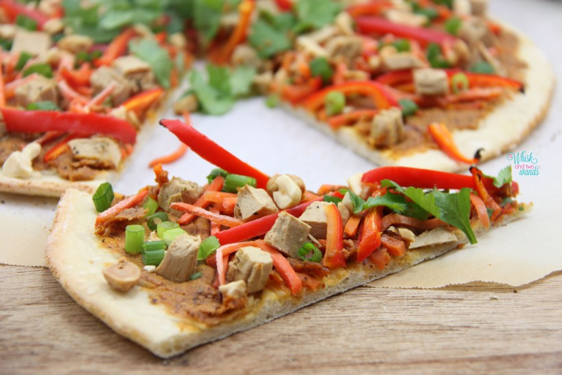 Pad Thai, Spicy PB, Chicken Pizza (vegan and gluten-free friendly)