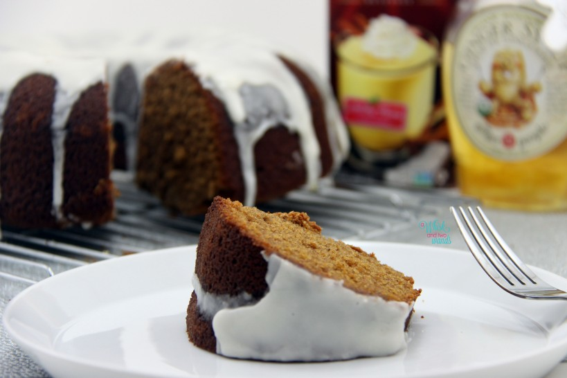 Ginger Bundt Cake with Eggnog Icing