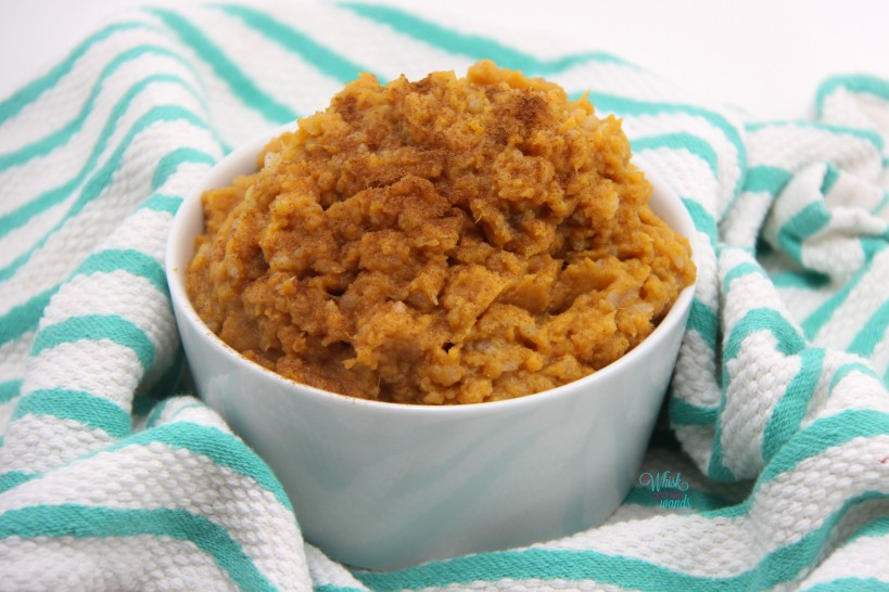 Sweet Potato Cauliflower Mash with cinnamon