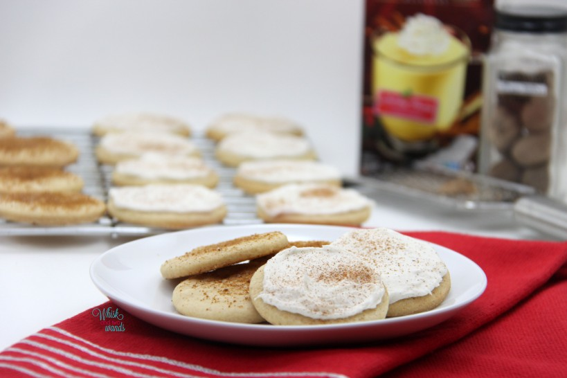 Eggnog Cookies (gluten free and vegan friendly)