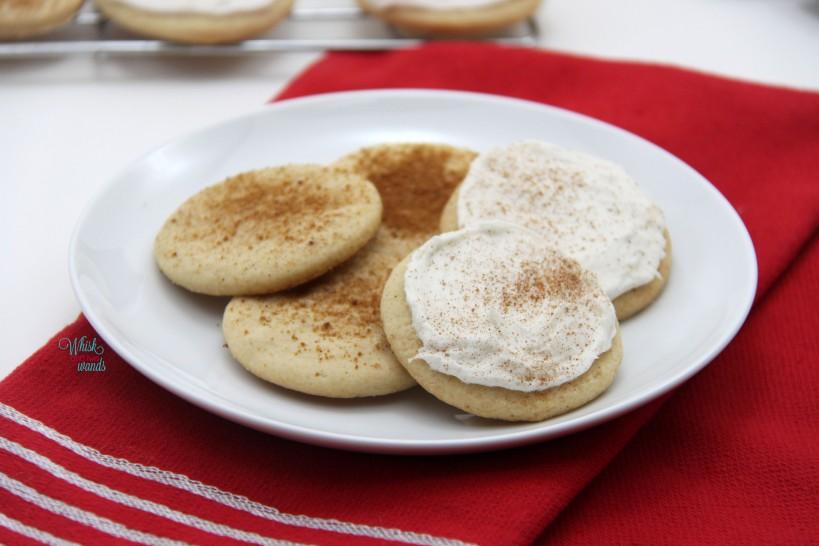 Eggnog Cookies (gluten free and vegan friendly)