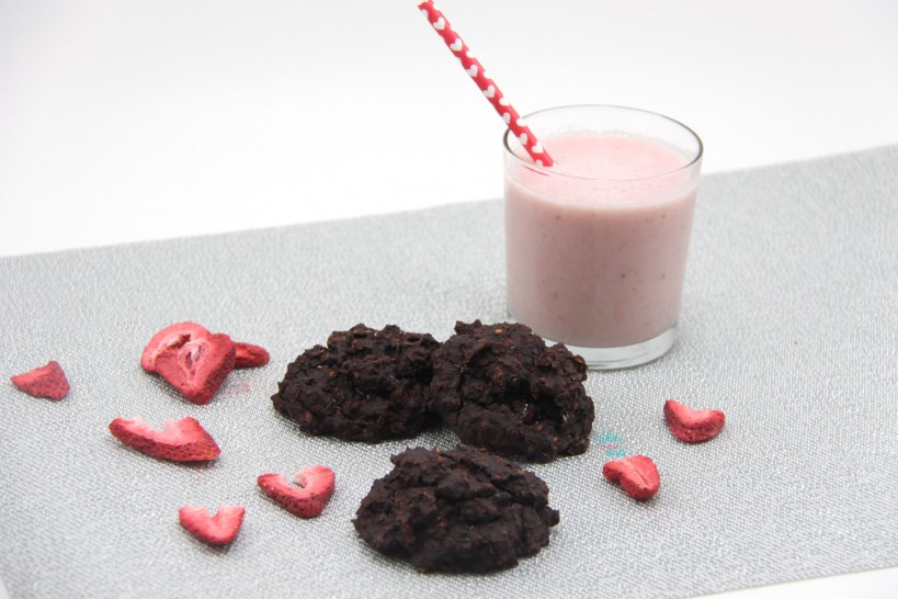Double Chocolate Strawberry Oatmeal Cookies