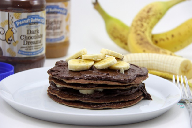 Chunky Monkey Protein Pancake with PB&Co Dark Chocolate Dreams