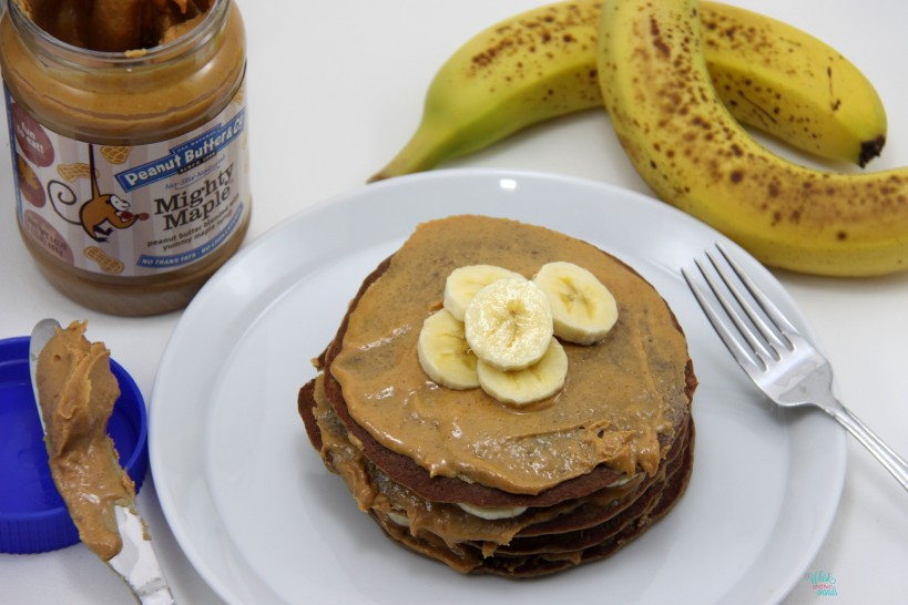 Chunky Monkey Protein Pancake with PB&Co Mighty Maple