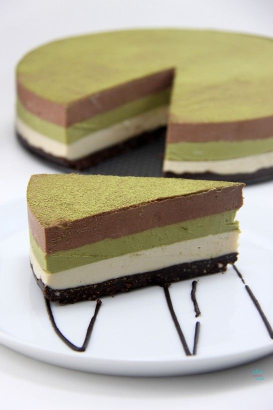 "Double Chocolate Peanut Butter Matcha ""Cheesecake"""