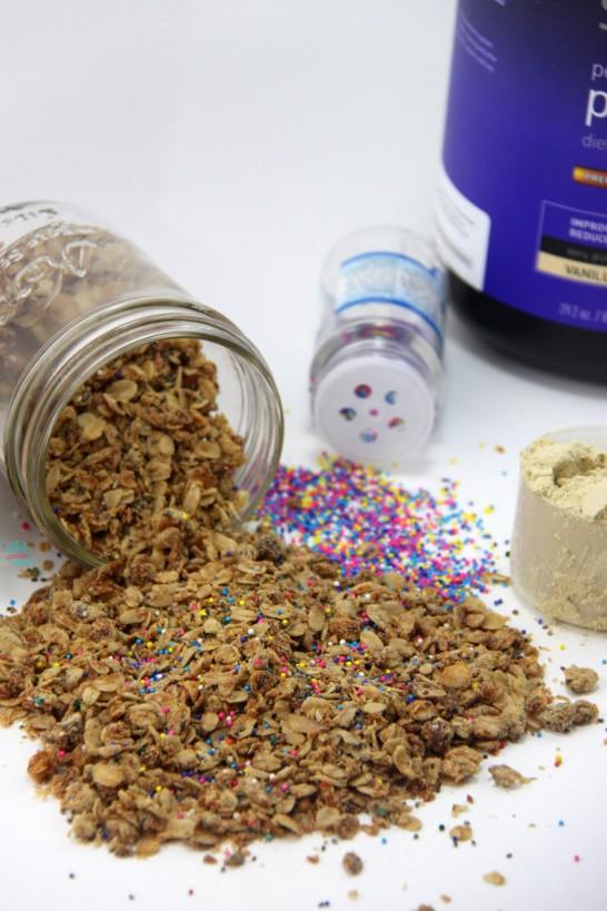 Sprinkle Protein Cupcake Granola