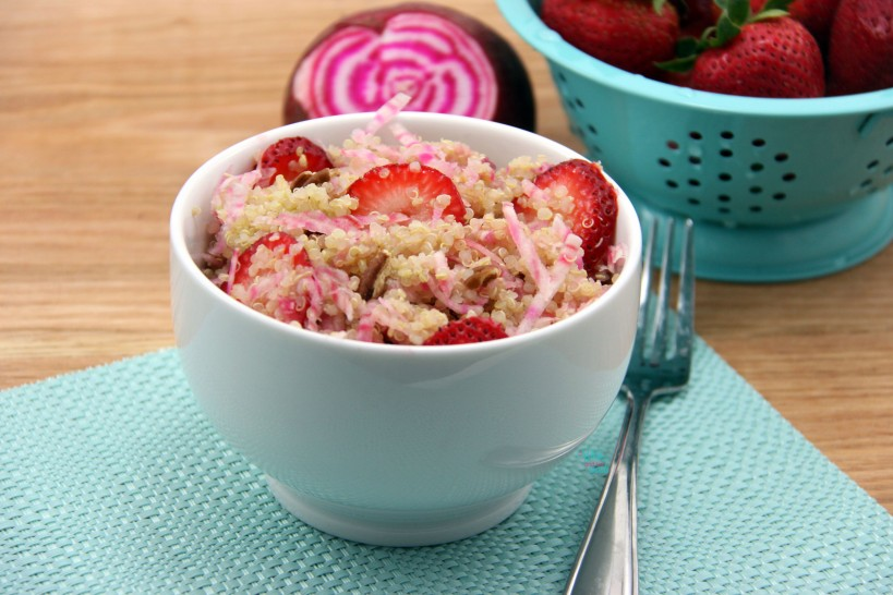 Beets and Berries Quinoa Salad