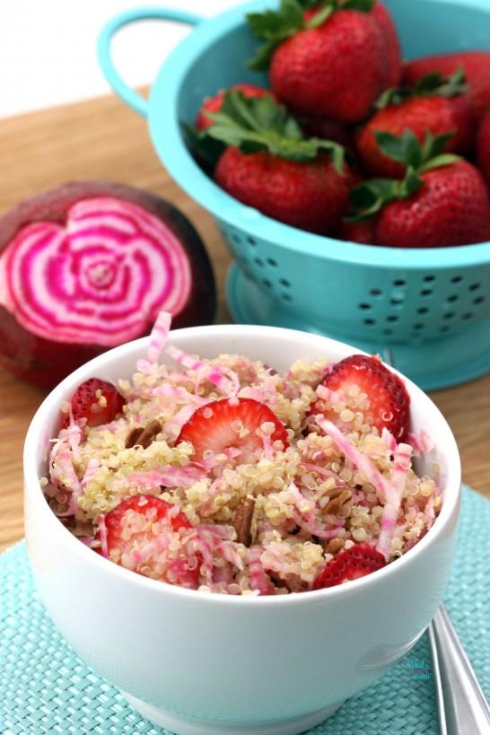 Beets and Berries Quinoa Salad