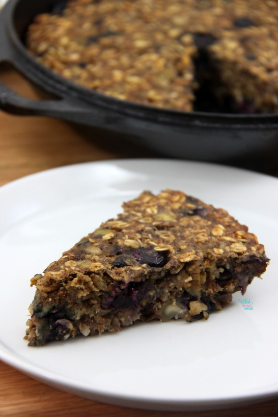 Blueberry Muesli Breakfast Cake