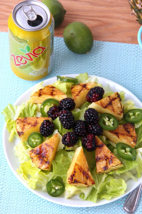 Grilled Pineapple Blackberry Salad