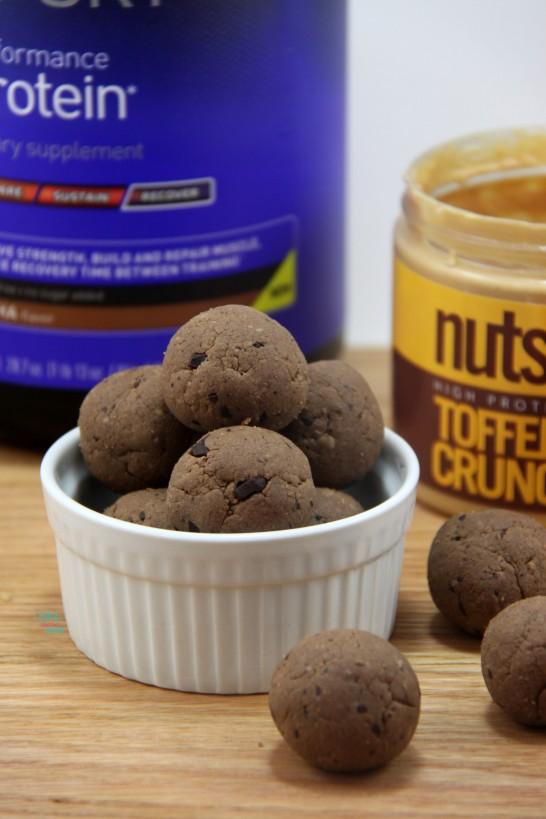 Toffee Mocha Chocolate Crunch Power Balls