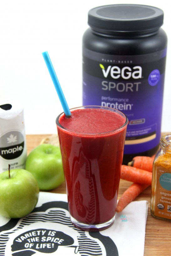 Pumped Post Workout Smoothie with beets and protein