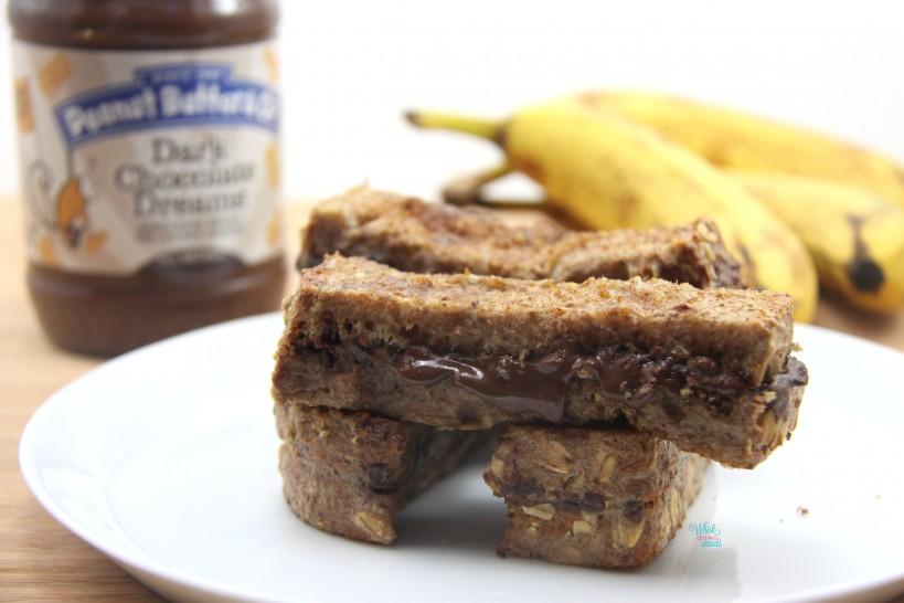 Chocolate Peanut Butter Stuffed Banana French Toast