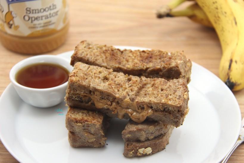 Peanut Butter Stuffed Banana French Toast
