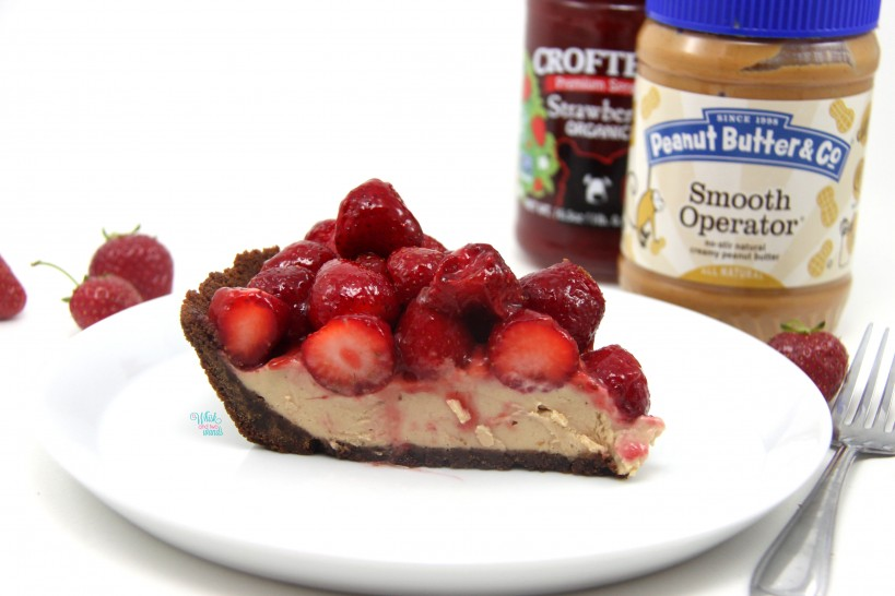 PB&J Strawberry Peanut Butter Mousse Pie