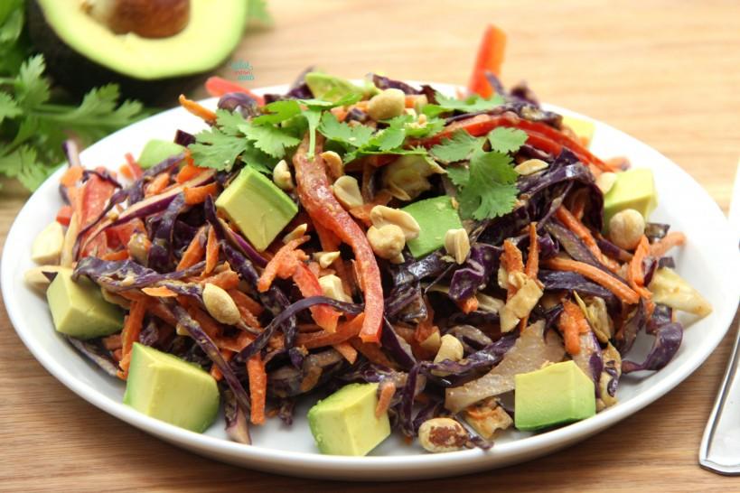 Spicy PB Thai Cabbage Salad