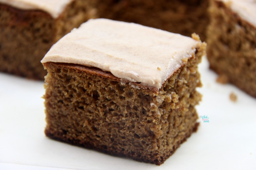 Banana Bars with Creamy Cinnamon Roll Frosting