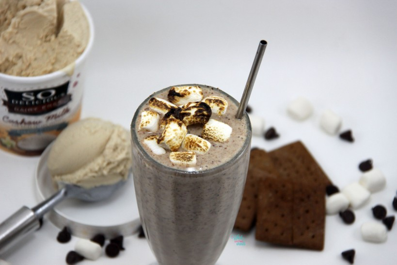 S'more Milkshake  (dairy free and vegan)