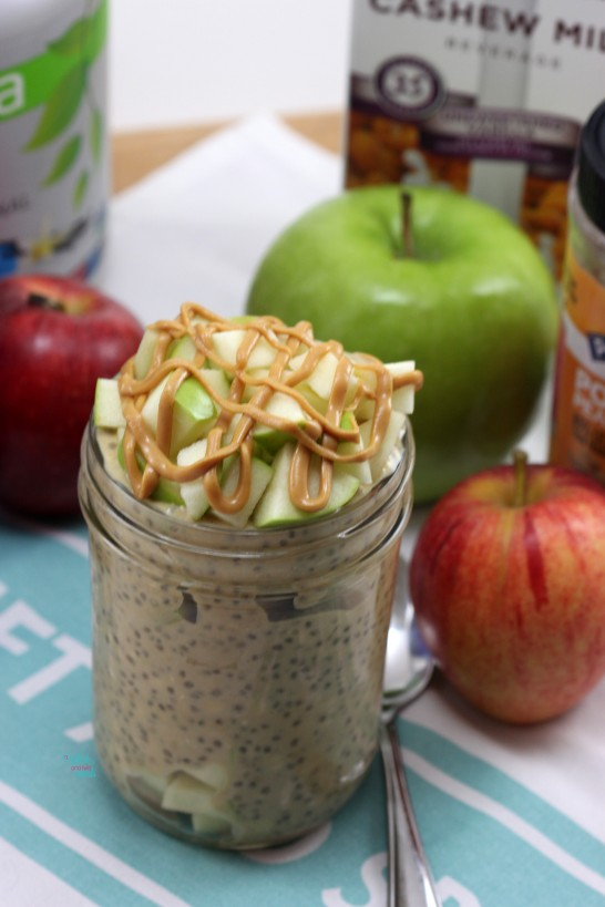 Apple Peanut Butter Overnight Oats