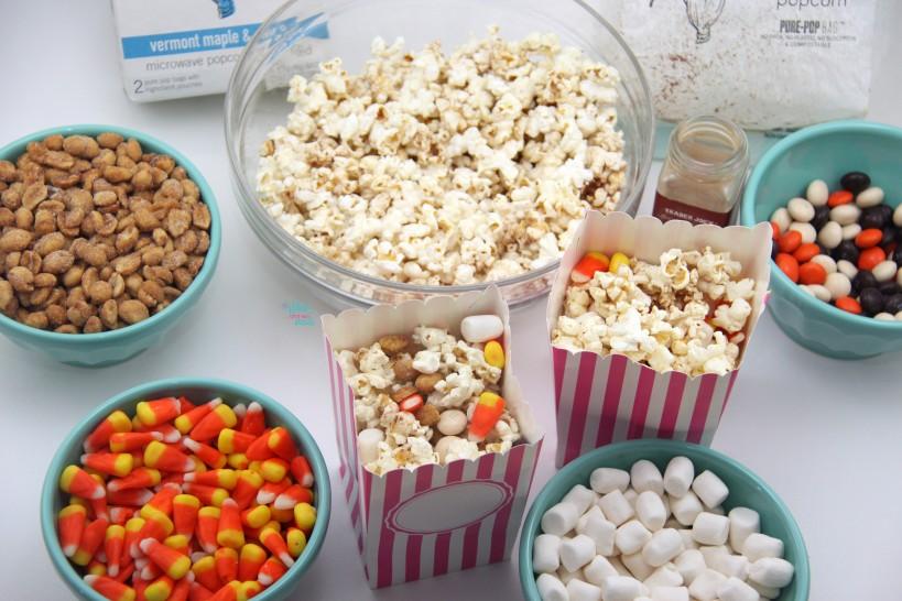 Pumpkin Popcorn and Pumpkin Popcorn Party Mix