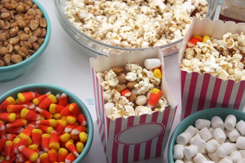 Pumpkin Popcorn Party Mix