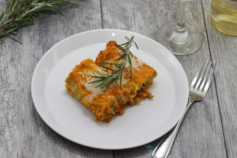 Pumpkin Lasagna Rolls